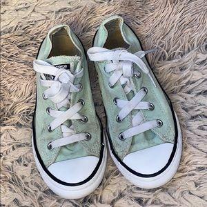 Converse girls shoes mint green size 2!